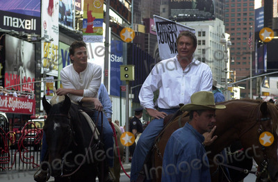 ADAM STORKE Photo - NEW YORK AUGUST 20 2002    STOCK PHOTO TOM BERENGER AND ADAM STORKE ON THE SET OF JOHNSON COUNTY WAR