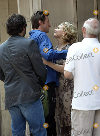 Essie Davis Photo - Aussie actor Hugh Jackman whose latest movie Van Helsing staked out the No 1 slot at the US box office last weekend was spotted on Broadway with friends Jackman was seen giving actress Essie Davis a warm hug when he ran in to her outside Millennium Hotel New York May 12 2004