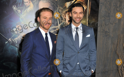 Aidan Turner Photo - December 2 2013 LADean OGorman and Aidan Turner arriving at the The Hobbit The Desolation Of Smaug at the TCL Chinese Theatre on December 2 2013 in Hollywood California