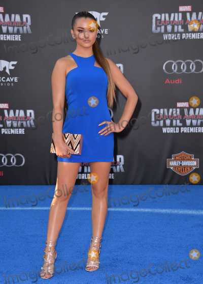 Paris Berelc Photo - LOS ANGELES CA April 12 2016 Actress Paris Berelc at the world premiere of Captain America Civil War at the Dolby Theatre HollywoodPicture Paul Smith  Featureflash