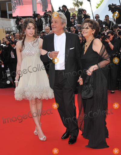 Anouchka Delon Photo - Claudia Cardinale Alain Delon  Anouchka Delon at the premiere screening of Wall Street Money Never Sleeps at the 63rd Festival de CannesMay 14 2010  Cannes FrancePicture Paul Smith  Featureflash
