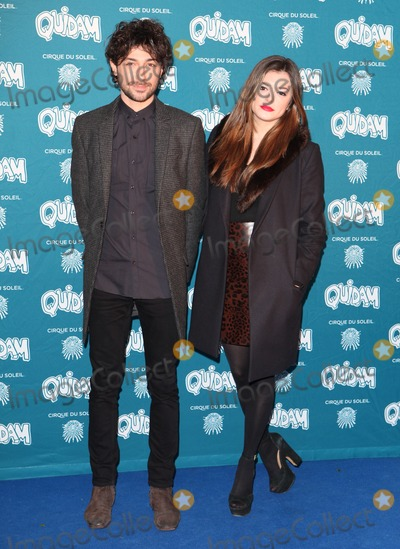 Alex Zane Photo - Alex Zane and girlfriend arriving for the Cirque du Soleil Quidam Press Night at the Royal Albert Hall London 07012014 Picture by Alexandra Glen  Featureflash