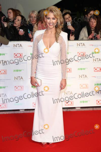 Amanda Clapham Photo - Amanda Clapham at The National Television Awards 2016 (NTAs) held at the O2 Arena London January 20 2016  London UKPicture James Smith  Featureflash