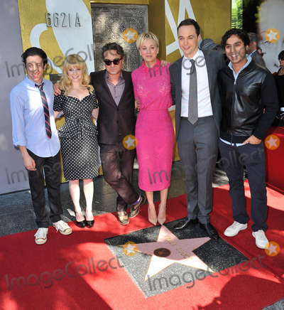 Kunal Nayyar Photo - Actress Kaley Cuoco with her co-stars from The Big Bang Theory - Johnny Galecki Jim Parsons Simon Helberg Kunal Nayyar  Melissa Rauch - on Hollywood Boulevard where she was honored with the 2532nd star on the Hollywood Walk of FameOctober 29 2014  Los Angeles CAPicture Paul Smith  Featureflash
