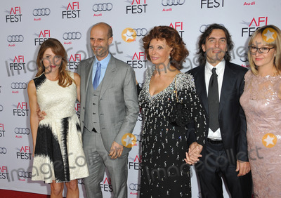 Andrea Meszaros Photo - Sophia Loren  sons Edoardo Ponti  wife actress Sasha Alexander (left)  Carlo Ponti  wife Andrea Meszaros Ponti at the American Film Institutes special tribute gala in her honor as part of the AFI FEST 2014 at the Dolby Theatre Hollywood November 12 2014  Los Angeles CAPicture Paul Smith  Featureflash