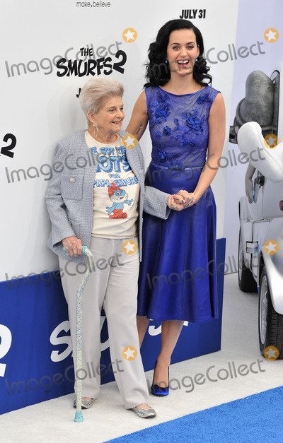 Ann Hudson Photo - Katy Perry  92 year-old grandmother Ann Hudson at the Los Angeles premiere of her movie The Smurfs 2 at the Regency Village Theatre WestwoodJuly 28 2013  Los Angeles CAPicture Paul Smith  Featureflash
