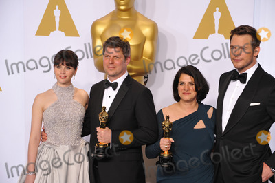 Anna Pinnock Photo - Felicity Jones  Adam Stockhausen  Anna Pinnock  Chris Pratt at the 87th Annual Academy Awards at the Dolby Theatre HollywoodFebruary 22 2015  Los Angeles CAPicture Paul Smith  Featureflash