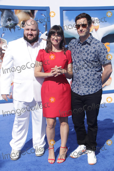 Andy Samberg Photo - Stephen Kramer Glickman Katie Crown Andy Samberg 09172016 The World premiere of gStorksh held at the Regency Village Theater in Los Angeles CA Photo by Izumi Hasegawa  HollywoodNewsWireco