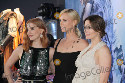 Emily Blunt Photo - Jessica Chastain Charlize Theron Emily Blunt  04112016 The Huntsman Winters War Premiere held at the Regency Village Theatre in Westwood CA Photo by Kazuki Hirata  HollywoodNewsWirenet