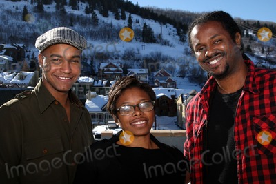 Aaliyah Williams Photo - (L-R) Actor Vaughn Lowery producer Aaliyah Willams and director Julian Breece pictured during their portrait session at the 2009 Sundance Film Festival on January 16 2009 in Park City Utah