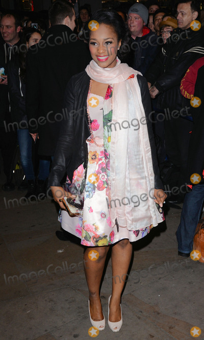 Alexia Khadime Photo - London UK Alexia Khadime at Whatsonstage Theatregoers Choice Awards at the Prince of Wales Theatre London on 23rd  February 2014Ref LMK392-47761-240214Vivienne Vincent Landmark Media WWWLMKMEDIACOM