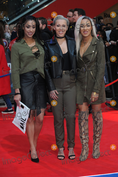 Alexandra Buggs Photo - London UK  Kris Anderson Courtney Rumbold and Alexandra Buggs - of Stooshe at Captain America Civil War UK Premiere at the Vue Westfield Shopping Centre London on April 26th 2016Ref LMK200-60234-270416Landmark Media WWWLMKMEDIACOM