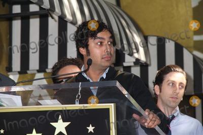 Kunal Nayyar Photo - Kaley Cuoco Honored with Star on the Hollywood Walk of Fame 6621 Hollywood Blvd Hollywood CA 10292014 Kunal Nayyar and Simon Helberg Clinton H WallaceGlobe Photos Inc