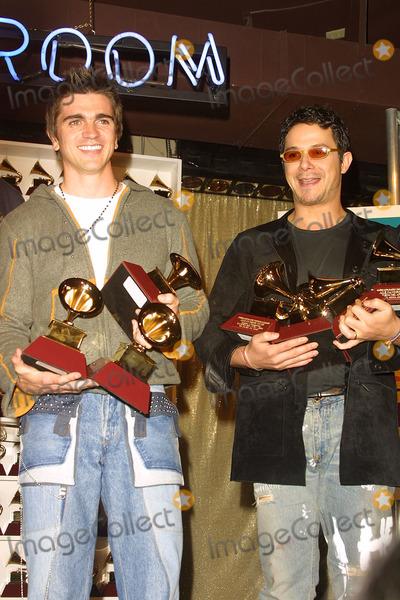 Alexandro Sanz Photo - Juanes and Alexandro Sanz Hold Their Grammys 2nd Latin Grammy Awards Conga Room Los Angeles CA October 30 2001 Photo by Nina PrommerGlobe Photos Inc 2001 K23232np (D)