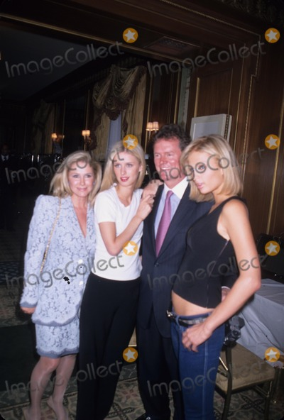 Dennis Basso Photo - Kathy Hilton with Husband Rick Hilton and Daughters Paris Hilton Nicky Hilton Dennis Basso Fur Fashion Show at the Pierre Hotel in New York 2001 K21943jbb Photo by John Barrett-Globe Photos Inc
