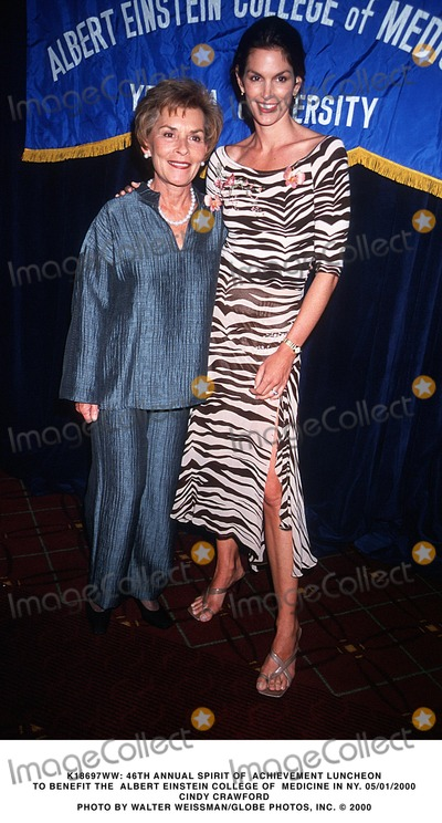 Albert Einstein Photo -  46th Annual Spirit of Achievement Luncheon to Benefit the Albert Einstein College of Medicine in NY 05012000 Judge Judy Sheindlin and Cindy Crawford Photo by Walter WeissmanGlobe Photos Inc