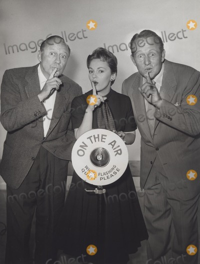 Art Linkletter Photo - Peggy King with Jack Benny and Art Linkletter Jack Benny Program 1955 Supplied by Globe Photos Inc