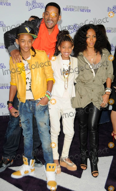 Willow Smith Photo - Will Smith Jada Pinkett Smith Jaden Smith  Willow Smith attending the Los Angeles Premiere of Justin Bieber Never Say Never Held at the Nokia Theatre in Los Angeles California on 2811 photo by D Long- Globe Photos Inc 2011