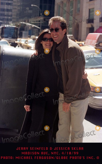 Jerry Seinfeld Photo - 1099 Jerry Seinfeld  Jessica Sklar Madison Ave NYC Photo Michael FergusonGlobe Photos Inc