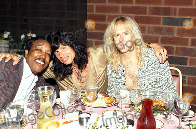 Aerosmith Photo - Steven Tyler and Tom Hamilton (From Aerosmith) with Eddie Gilbreath (Sr Vice Rpesident of Cbs) Photo Michael a Gallitelli  Globe Photos Inc
