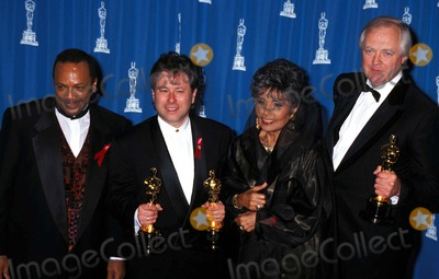 Lena Horne Photo - Sd03-29-1993 65th Annual Academey Awards Quincy Jones_alan Menken_lena Horne_tim Rice 1993 Photo by Michael FergusonGlobe Photosinc Quincyjonesretro