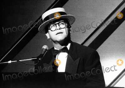 Prince Photo - Elton John at the London Palladium For the Princes Trust Royal Gala Performance 12-1987 Photo by Uppa-ipol-Globe Photos Inc
