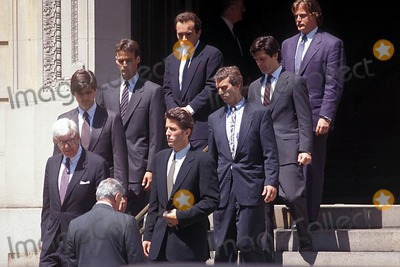 Jackie Onassis Photo - 05301994 Jacqueline Bouvier Kennedy Onassis Funeral Photo Norman Isaacs Ipol Globe Photo Sinc 1994 Christopher Lawford Ted Kennedy Jr Robert Kennedy Jr St Ignatius Loyola Church