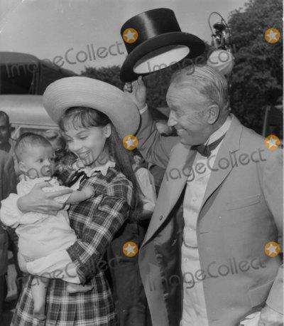 Maurice Chevalier Photo - Leslie Caron Introduces Son to Maurice Chevalier on Set of Gigi Photo Globe ArchiveGlobe Photos Inc