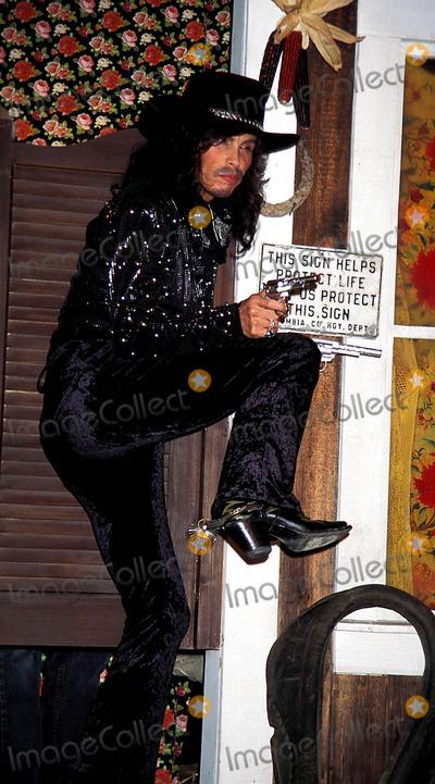 Aerosmith Photo - Sd0403 Betsey Johnson Fall  Winter Fashion Show 95 Steven Tyler (Aerosmith) Photo Rose Hartman  Globe Photos Inc