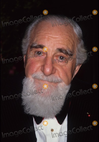 Al Hirschfeld Photo - AL Hirschfeld Opening 1992 A8893 Photo by Adam Scull-Globe Photos Inc