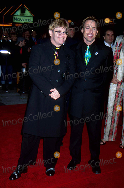 John B Photo - Elton John with David Furnish at Aida Premiere on Broadway After Party  Roseland in New York City 3-23-2000 I4225jz Photo by John B Zissel-ipol-Globe Photos Inc