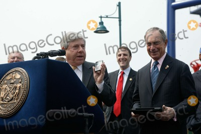 Mayor Bloomberg Photo - Brooklyn NY   Mayor Michael Bloomberg opens Scream Zone  Amusement Park in Coney Island Debut of First New Roller Coasters since the Cyclone opened in 1927       Brooklyn Borough President Marty Markowitz  Mayor Bloomberg      Bruce Cotler              4  20 11  ANTONIO ZAMPERLA and MICHAEL BLOOMBERG