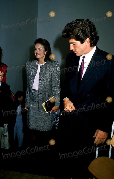 Jacqueline Kennedy Onassis Photo - Jacqueline Kennedy Onassis and Son John Kennedy Jr Photo Bymichael FergusonGlobe Photos Inc 1988 Jacquelinekennedyonassisretro