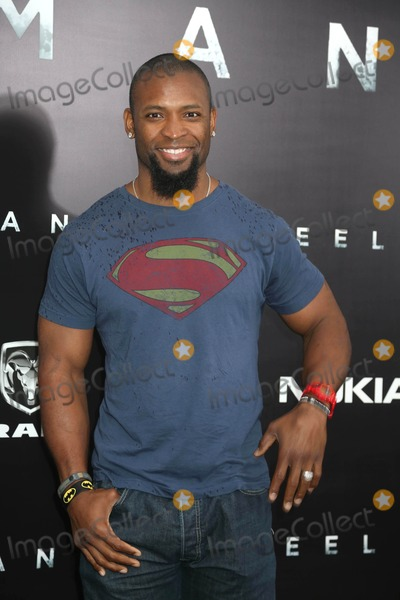 Ahman Green Photo - The World Premiere of Man of Steel Alice Tully Hall NYC June 10 2013 Photos by Sonia Moskowitz Globe Photos Inc 2013 Ahman Green