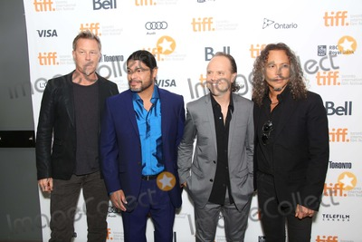 James Hetfield Photo - Musicians James Hetfield (l-r) Robert Trujillo Lars Ulrich and Kirk Hammett of Metallica Attend the Premiere of Metallica Through the Never During the 38th Annual Toronto International Film Festival Aka Tiff at Scotiabank Theatre in Toronto Canada on 09 September 2013 Photo Alec Michael