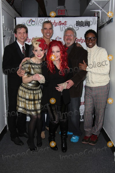 Stark Sands Photo - Cyndi Lauper and the Stars of Kinky Boots Join Together For a Kinky Kabaret to Raise Money For Cyndi Laupers True Colors Fund Birdland NYC December 16 2013 Photos by Sonia Moskowitz Globe Photos Inc 2013 Stark Sands Annaleigh Ashford Cyndi Lauper Harvey Fierstein Billy Porter