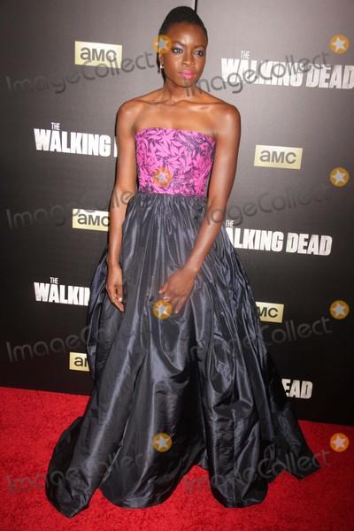Danai Gurira Photo - Danai Gurira at Amc Season Six Debut of the Walking Dead at Fan Premiere Event at Madison Square Garden 10-9-2015 John BarrettGlobe Photos