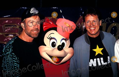 Chuck Norris Photo - Chuck Norris Minnie Mouse and Rick Dees Photo Tom Rodriguez  Globe Photos Inc Chucknorrisretro