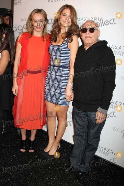 Max Azria Photo - Bcbg Max Azria Fashion Show-backstage Celebrities Mercedes-benz Fashion Week NYC Lincoln Center NYC February 9 2012 Photos by Sonia Moskowitz Globe Photos Inc 2012 Luba and Max Azria with Giada DE Laurentis
