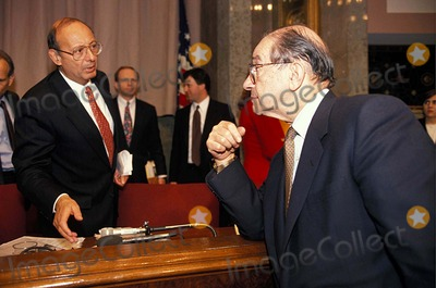 Al DAmato Photo - Alan Greenspan with AL Damato at the Senate Banking Committee Hearing on Mexican Bailout 3-9-1995 16986 Photo by James Colburn-ipol-Globe Photos Inc