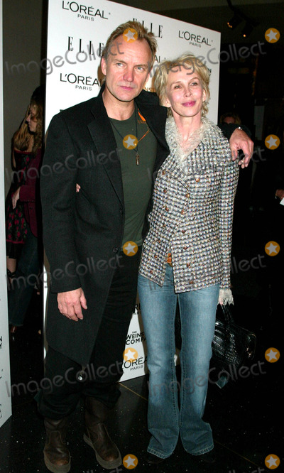Sting Photo - the Premiere of Derailed at the Loews Lincoln Square Theater New York City 10-30-2005 Photo by Sonia Moskowitz-Globe Photosinc Sting_trudie Styler