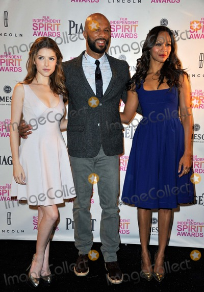 Lonnie Rashid Lynn Jr Photo - Anna Kendrick  Lonnie Rashid Lynn Jr Common Zoe Saldana attending the 2013 Film Independent Spirit Awards - Nominations Announcement Held at the W Hotel Hollywood in Hollywood California on November 27 2012 Photo by D Long- Globe Photos Inc