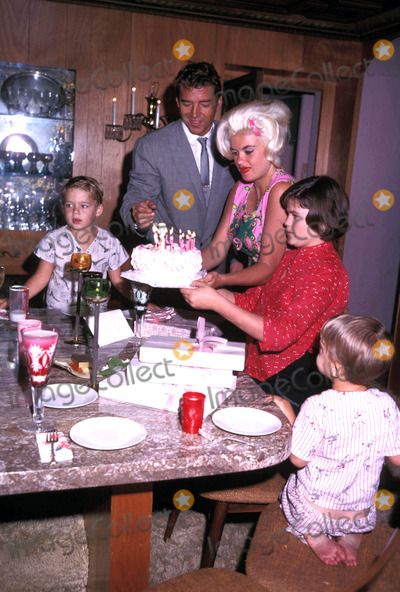 Mickey Hargitay Photo - Mickeyhargitayretro Jayne Mansfield and Mickey Hargitay with Their Children 11-1963 Photo by Globe Photos