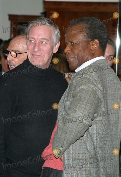 David Niven Jr Photo - Lunch Party For Jackie Collins New Novel Hollywood Divorces Chopard Beverly Hills California 120803 Milan RybaGlobe Photos Inc 2003 David Niven Jr and Sidney Poitier