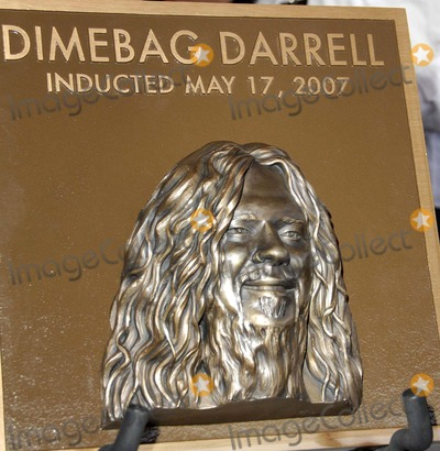 Dimebag Darrell Photo - Dimebag Darrell Abbott Plaque During the Posthumous Induction of Guitarist Dimebag Darrell Abbott Into Hollywoods Rockwalk on May 17 2007 in Los Angeles Photo by Michael Germana-Globe Photosinc