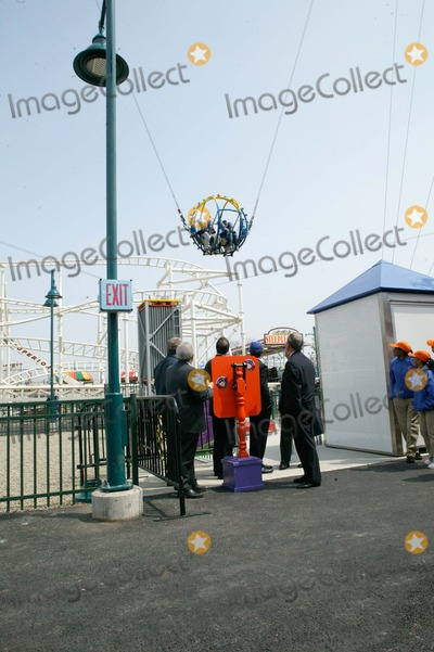 Mayor Bloomberg Photo - Brooklyn NY   Mayor Michael Bloomberg opens Scream Zone  Amusement Park in Coney Island Debut of First New Roller Coasters since the Cyclone opened in 1927   Mayor Bloomberg  Brooklyn Boro President Marty Markowitz watch the new ride          Bruce Cotler              4  20 11  ANTONIO ZAMPERLA and MICHAEL BLOOMBERG