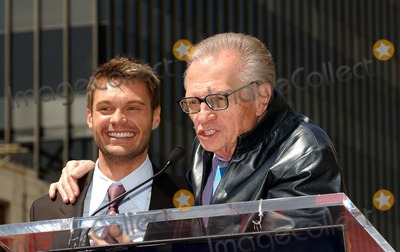 Larry King Photo - Ryan Seacrest Honored with a Star on the Hollywood Walk of Fame Hollywood CA 04-20-2005 Photo by Fitzroy BarrettGlobe Photos Inc 2005 Larry King and Ryan Seacrest