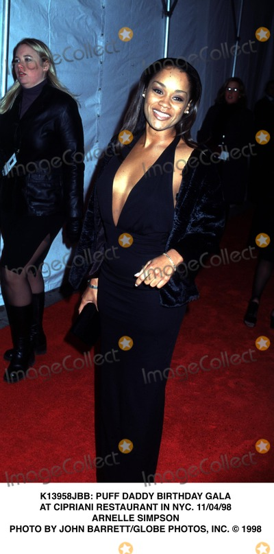Arnelle Simpson Photo - Birthday Party For Sean P Diddy Puff Daddy Combs at Cipriani Restaurant New York City 11041998 Photo by John BarrettGlobe Photos Arnelle Simpson