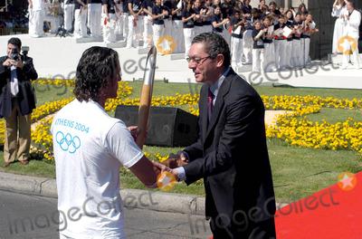 Alberto Ruiz Gallardon Photo - CcebollaglobelinkukcomGlobe Photos Inc 06272004 000898 Alberto Ruiz Gallardon  Kiko Narvaez Hand Over of the Olympic Torch - LA Puerta DE Alcala Madrid