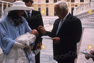 Andrea Casiraghi Photo - Princesse Caroline with Andrea Casiraghi Baptism Photo by Imapress-Globe Photos Inc